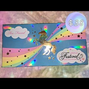 *never used* limited edition too faced palette